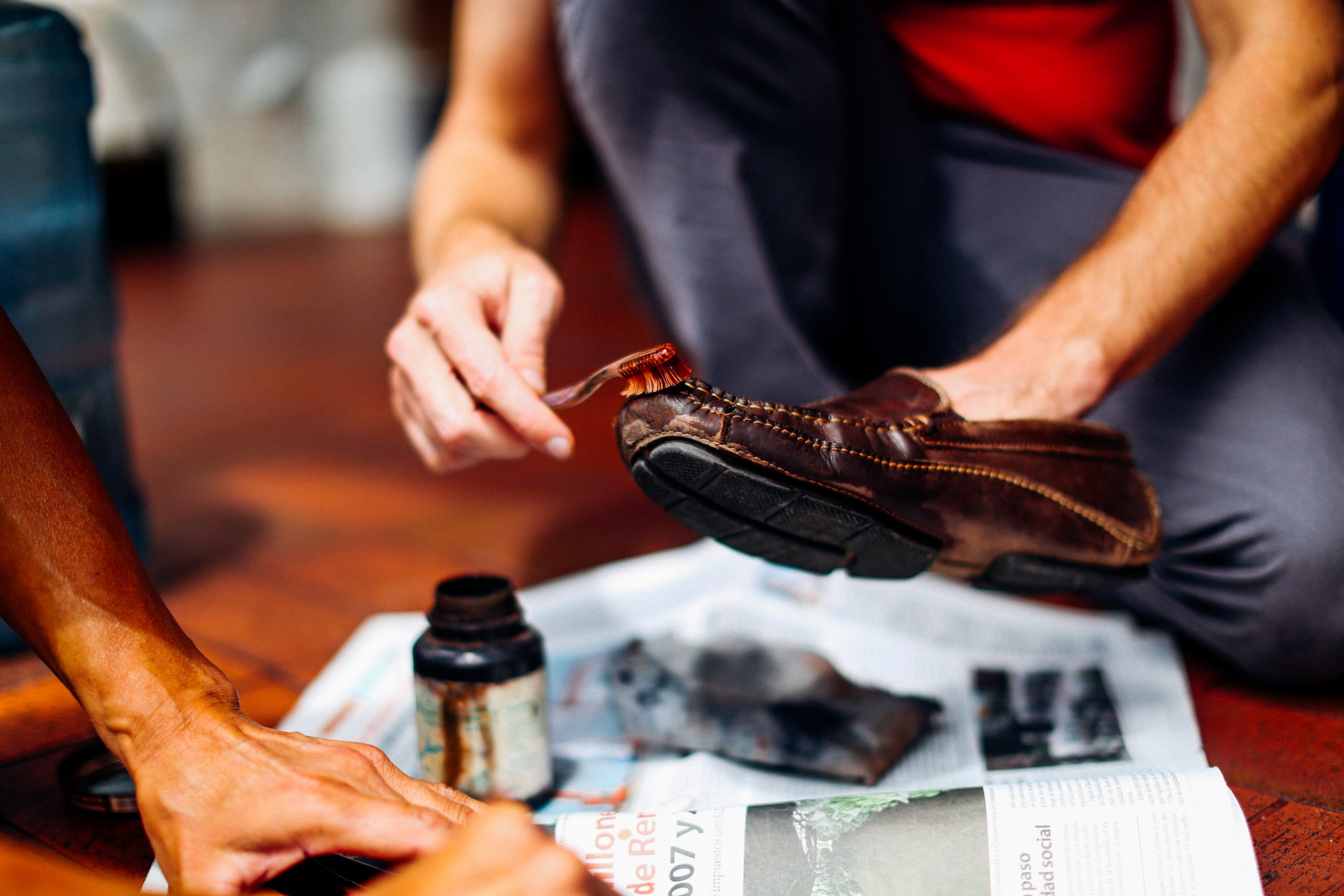 ブーツの一般的な手入れ方法