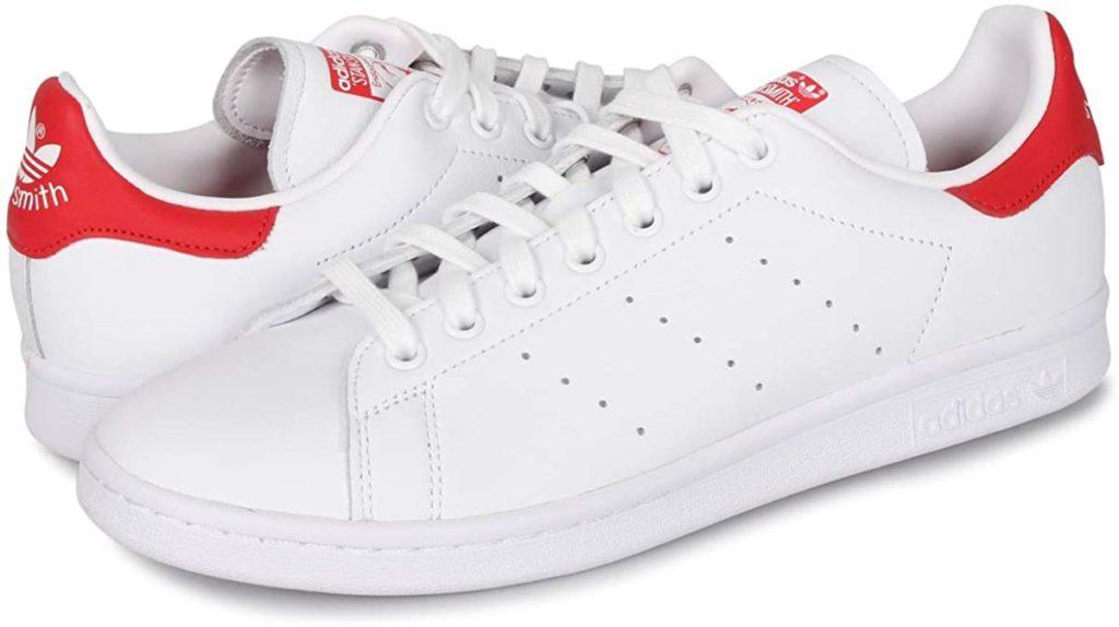 Adidasスタンスミスホワイト×レッド